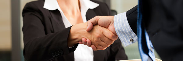 Real estate transaction - handshake.